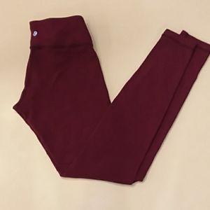 Lululemon size 6 heathered burgundy leggings